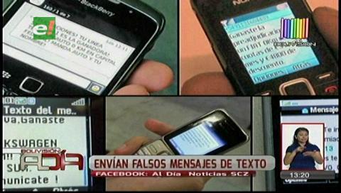 Delincuentes envían falsos mensajes de texto, piden precaución