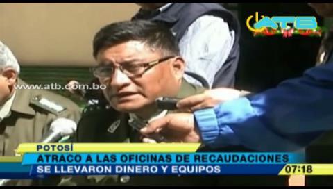 Atracan las oficinas de catastro de Potosí