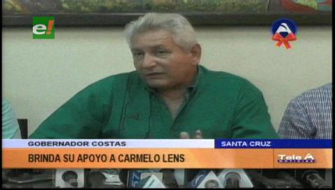 Rubén Costas manifiesta su apoyo a Carmelo Lens y su familia