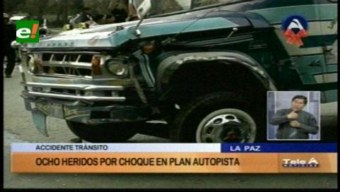 La Paz: Colisión de un micro con un minibús causa siete heridos