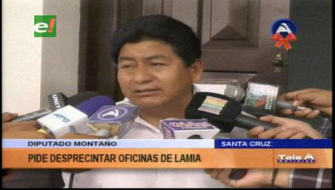 Diputado Montaño pide desprecintar activos de LaMia