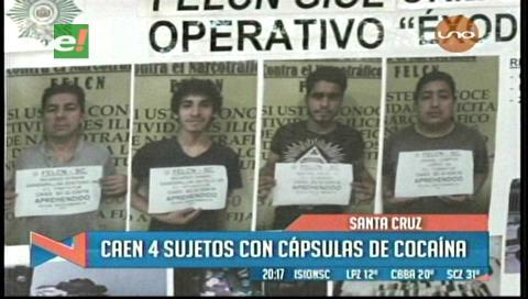 Detienen a 4 sujetos con capsulas de cocaína