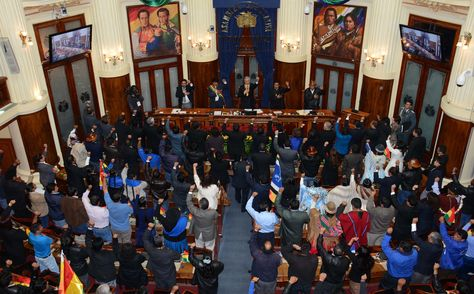 Una pasada sesión de la Asamblea Legislativa. Foto: ABI - archivo