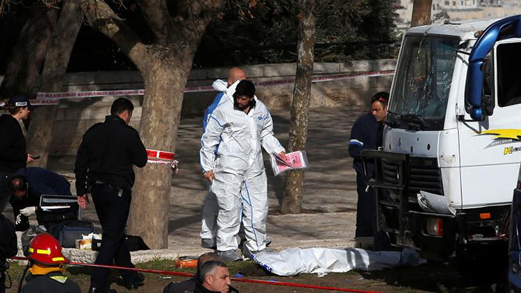 VIDEO: Publican las primeras imágenes del mortífero ataque con un camión en Jerusalén