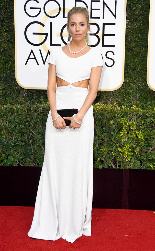 Sienna Miller, 2017 Golden Globes, Arrivals