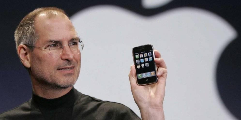 Foto: Steve Jobs, el día de la presentación del primer iPhone