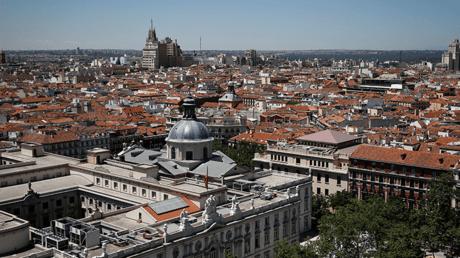 Vista aérea del Tribunal Supremo de España