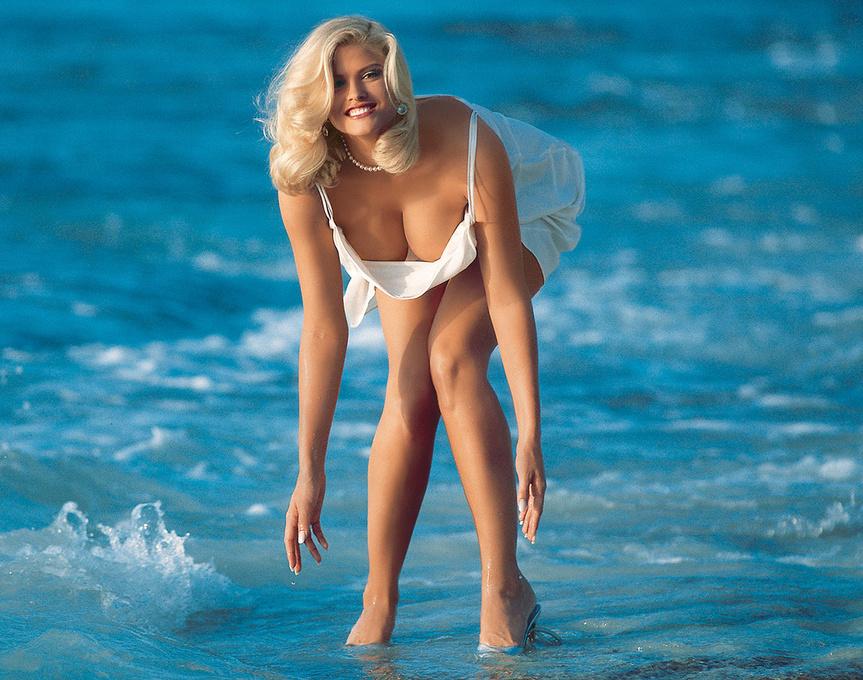 Anna Nicole Smith, en una foto publicada por Playboy.
