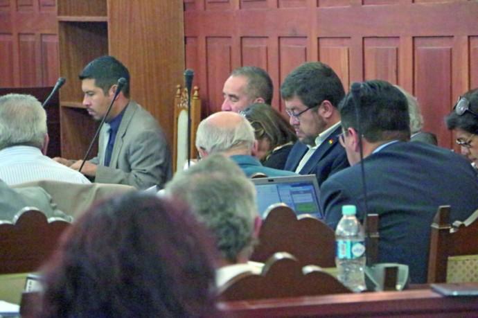 AUDIENCIA. Los imputados en el salón de debates del Tribunal Supremo de Justicia.