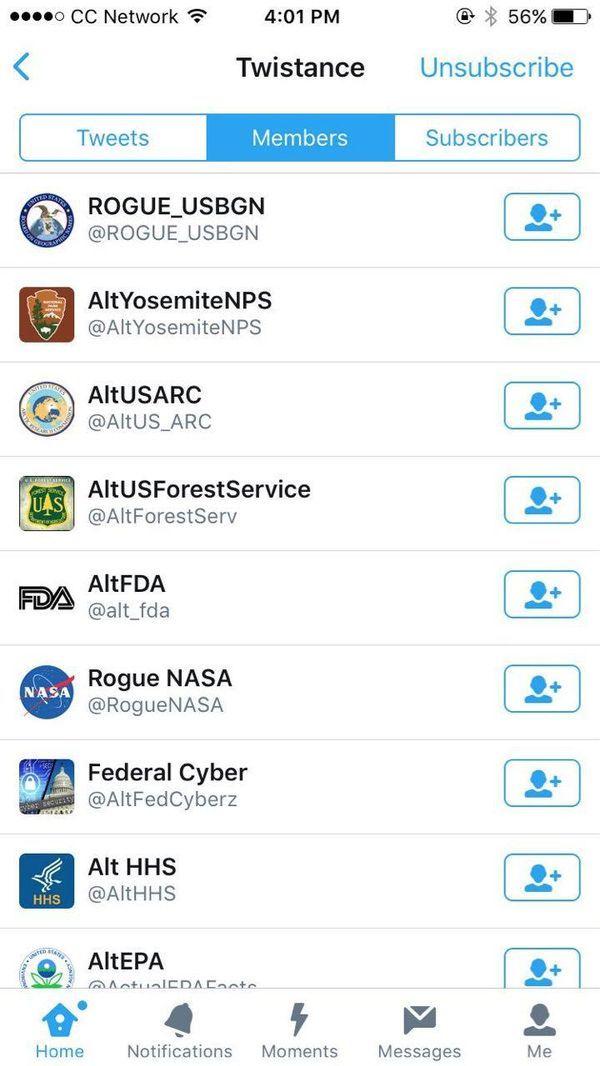 Algunas de las cuentas rebeldes de Twitter que trolean al presidente estadounidense, Donald Trump