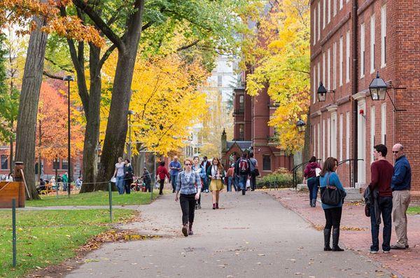 Imagen del campus de Harvard, una de las universidades más reconocidas de Ivy League (iStock)