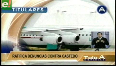 Video titulares de noticias de TV – Bolivia, noche del miércoles 11 de enero de 2017