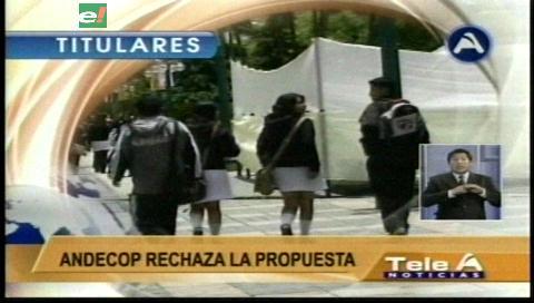 Video titulares de noticias de TV – Bolivia, noche del jueves 12 de enero de 2017