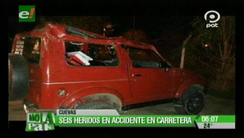 Accidente causa 6 personas heridas en Cuevas