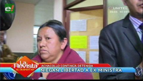 La Paz: Niegan nuevamente la libertad a la ex ministra Nemesia Achacollo