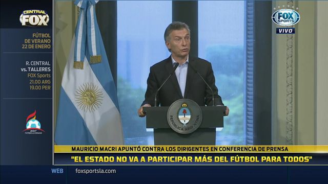 """Macri: """"El fútbol está en una crisis terminal"""""""