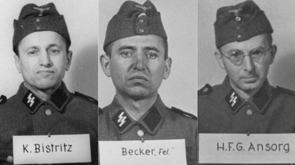 Kolomann Bistritz, de Hungría; Felix Becker, un granjero croata; Hans Ansorg, empleado bancario que se unió a las SS en 1933 y creció rápidamente en la fuerza