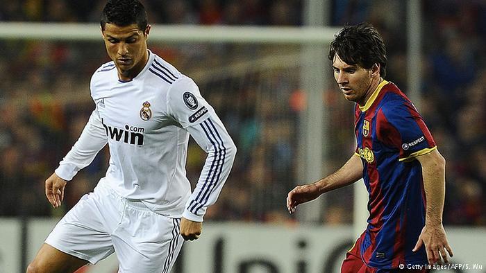 Íconos del Real Madrid y el Barcelona, Ronaldo y Messi. (Getty Images/AFP/S. Wu)