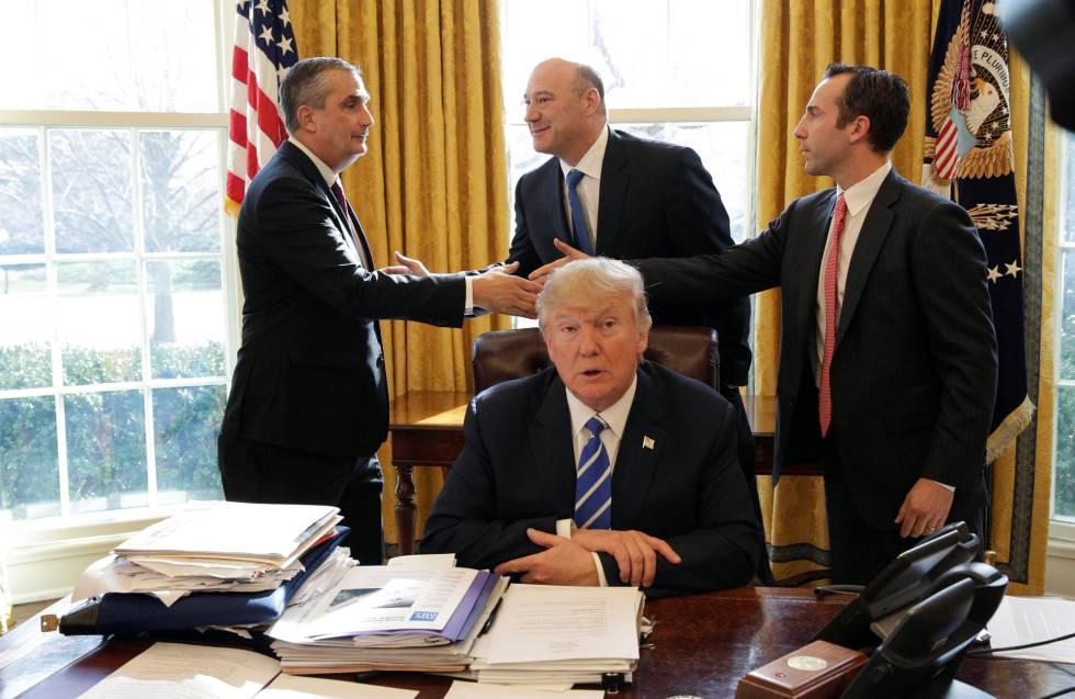 Donald Trump, en el despacho Oval este miércoles.