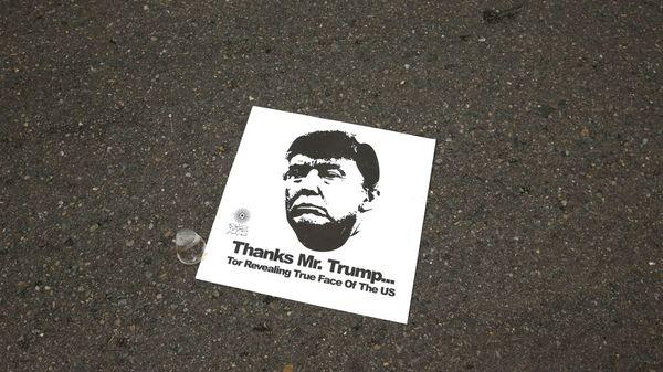 """""""Gracias, Sr. Trump… por revelarnos la verdadera cara de los EEUU"""" (AP)"""