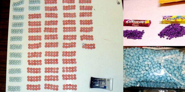 Metanfetaminas mezcladas con dulces