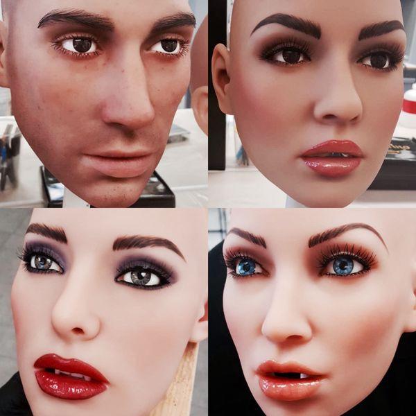 Los rostros completamente personalizados de robots que se convertirán en compañeros de millones de personas en el futuro cercano (IG @abyssrealdoll)