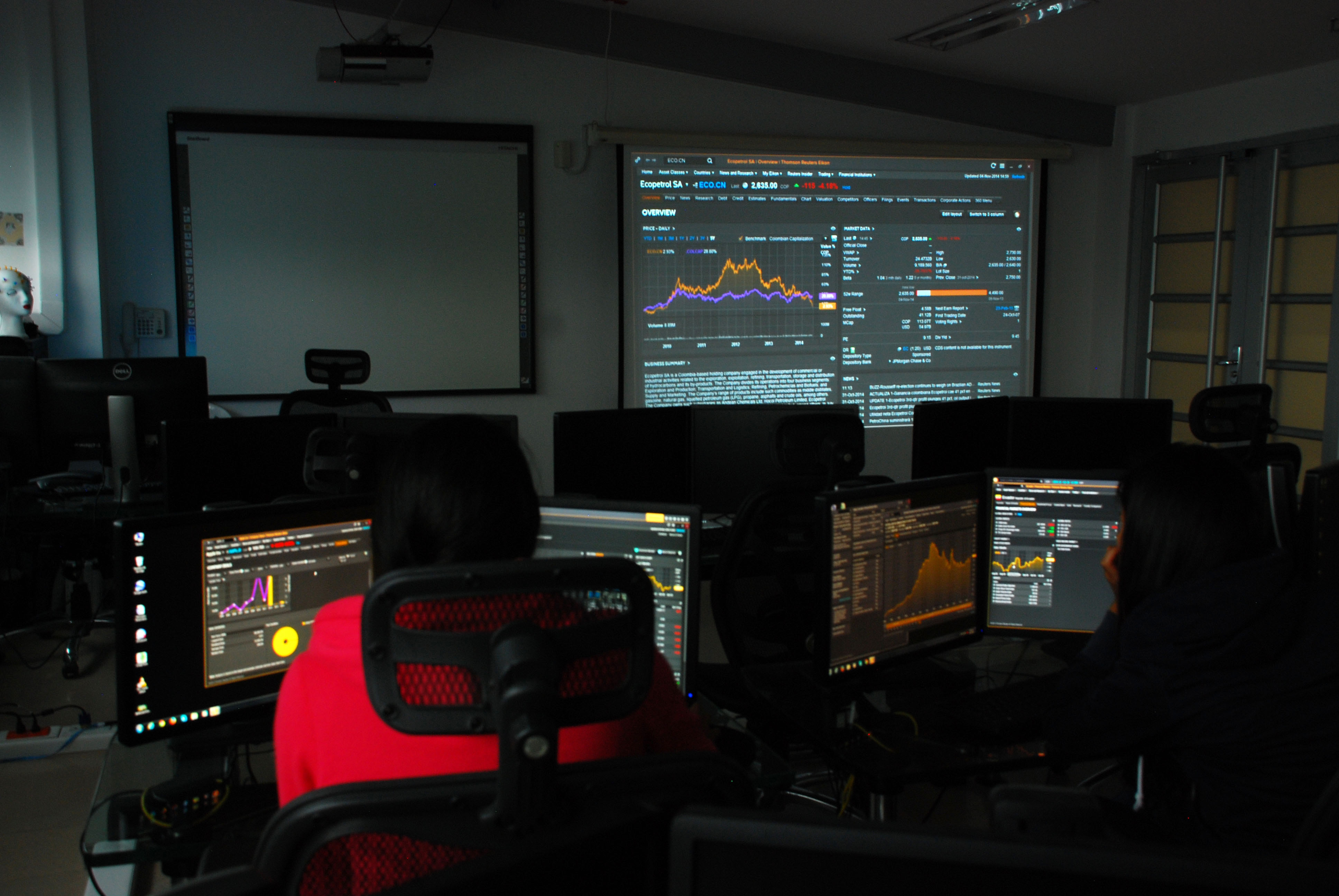 Resultado de imagen para Abren laboratorio de simulación bursátil