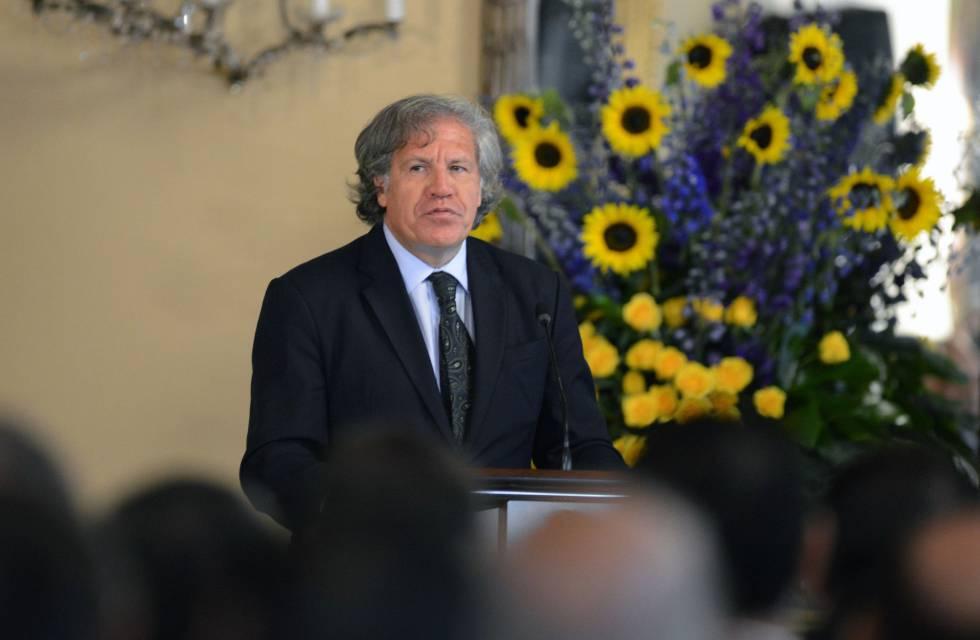 Luis Almagro durante una intervención en Tegucigalpa.