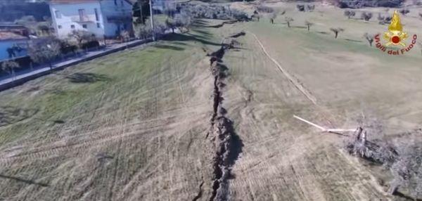 El pueblo de Ponzano se está hundiendo por un enorme desmoronamiento de 30 hectáreas de dimensión