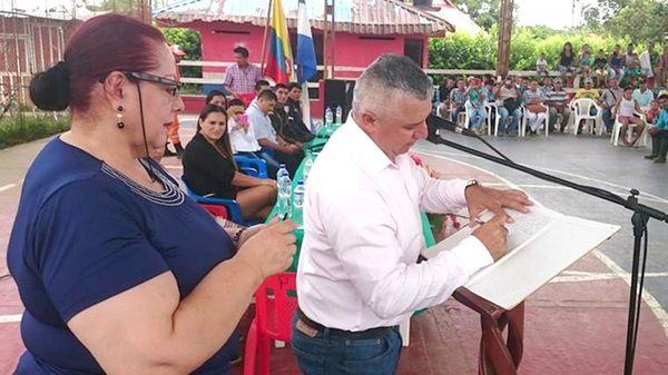 El alcalde de Puerto Concordia, Luis Roberto González Sánchez