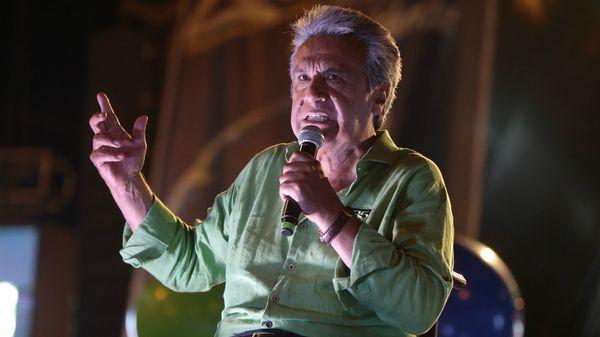 El candidato oficialista Lenin Moreno insistió hasta el final del largo escrutinio que ganaría en primera vuelta, hasta que finalmente reconoció que no le alcanzaron los votos.