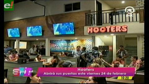 Hooters oficialmente inaugurada en Bolivia