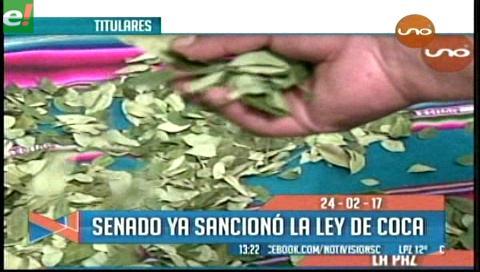 Video titulares de noticias de TV – Bolivia, mediodía del viernes 24 de febrero de 2017