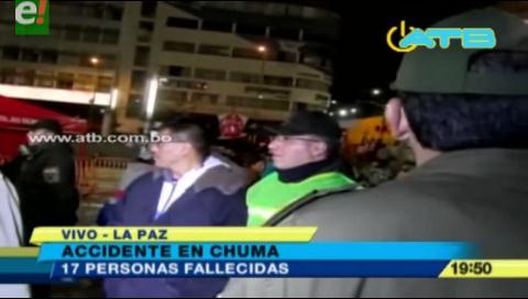 La Paz. Accidente en Chuma se lleva la vida de 17 personas