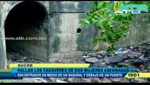 Identifican cadáveres de las dos mujeres asesinadas el fin de semana en Sucre
