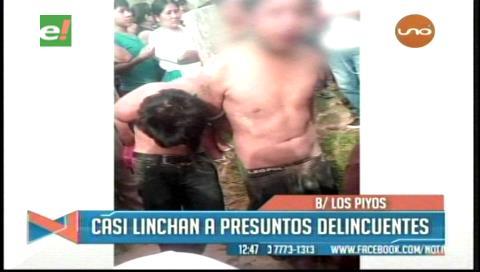 Santa Cruz: Vecinos amarraron y golpearon a dos supuestos ladrones en el barrio Los Piyos