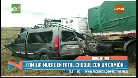 Familia de bolivianos muere en accidente en Argentina