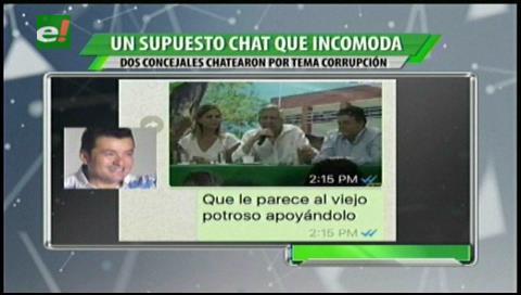 El supuesto chat de los concejales Johnny Fernández y Elvia López que incomoda a UCS