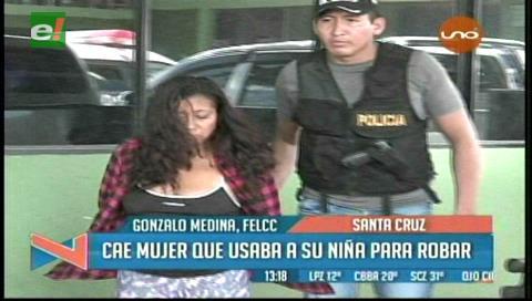 Detienen a mujer que usaba a una menor para robar