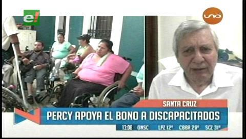 Percy apoya el pago del bono a discapacitados