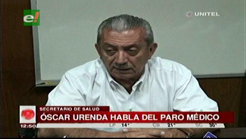 Urenda critica el paro de la CNS pero apoya el pedido de médicos