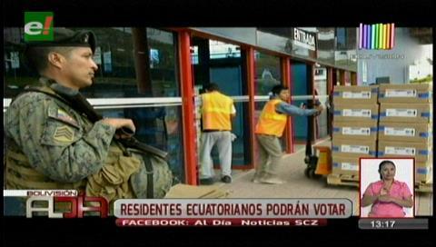 Residentes ecuatorianos podrán votar en presidenciales de su país