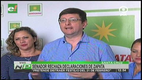 Senador Ortiz califica entrevista a Zapata como 'un burdo montaje lleno de falsedades'