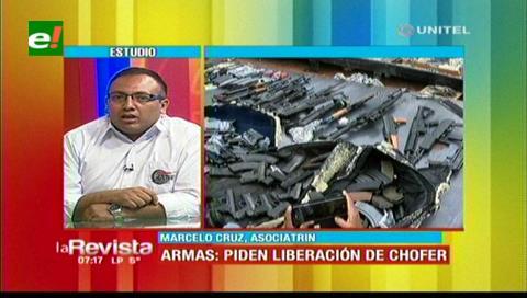 Caso armas de contrabando: Transportistas piden respetar la ley de Aduana y exigen que liberen a chofer