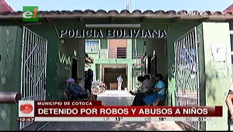 Aprehenden a un sujeto acusado de robar y abusar de menores en Cotoca