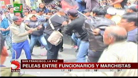 La Paz: Partidarios oficialistas y trabajadores de la COB se agarraron a golpes