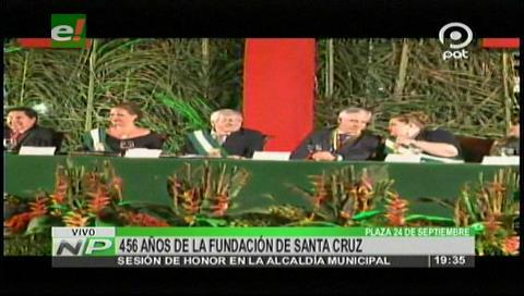 456 años de fundación: Percy y Álvaro le rinden homenaje a Santa Cruz