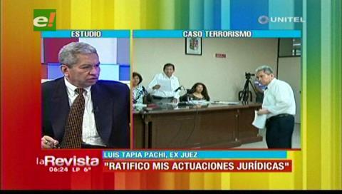 """Luis Tapia Pachi y el caso terrorismo: """"Es absurdo que me propongan como testigo si soy juez"""""""