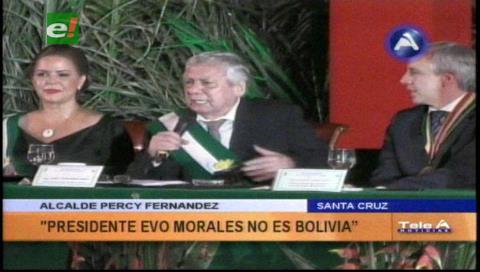 """Percy: """"Bolivia no es Evo Morales"""""""