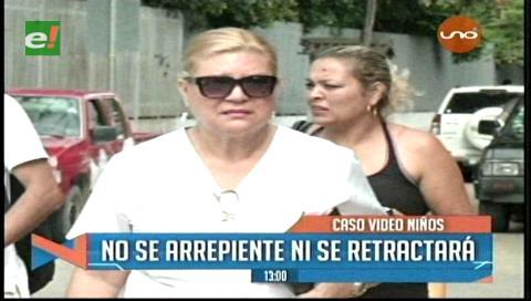 Caso video de niños: Sandoval no se arrepiente ni se retractará